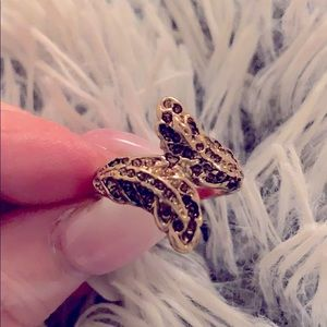 Boho Hippy Feather gold ring